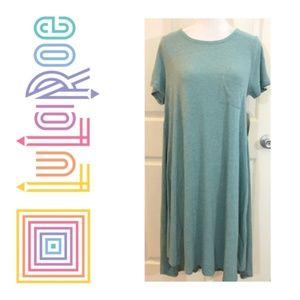 NWT LuLaRoe Carly Dress sz Small Heathered Green